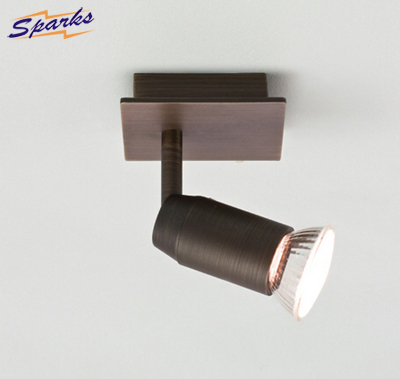 6119 Magna Bronze Single Wall / Ceiling Spotlight