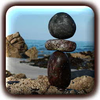 Three stones perched on each other