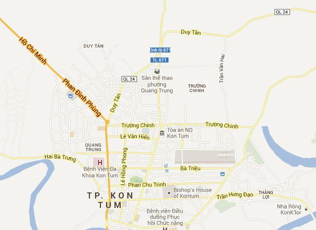 Kon Tum Tourist Map Kon Tum Vietnam Tourist Maps