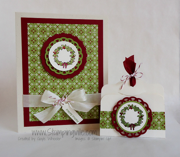 Set of 4 handcrafted stamped card Gift tags.