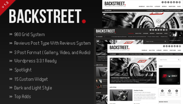 Backstreet - Magazine WordPress Theme Free Download by ThemeForest.