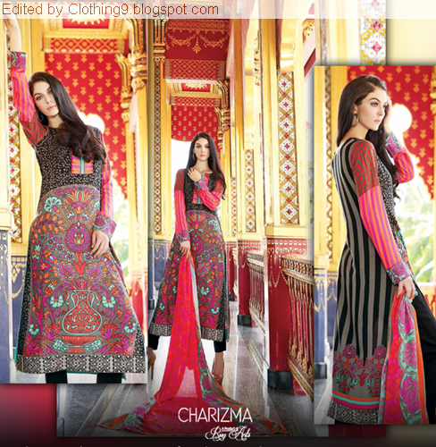 Charizma-Riaz Arts Winter Vol-3 Shawls 2015