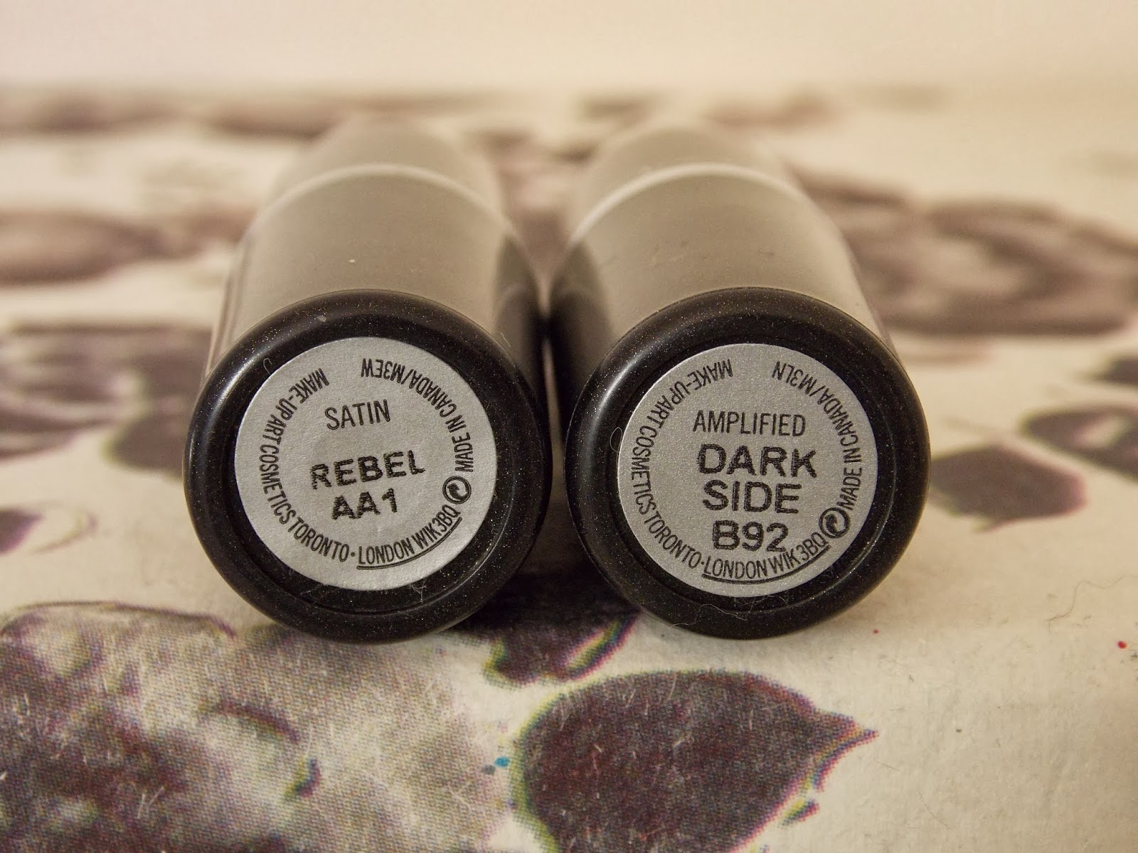 Lipstick: MAC Rebel and MAC Dark Side