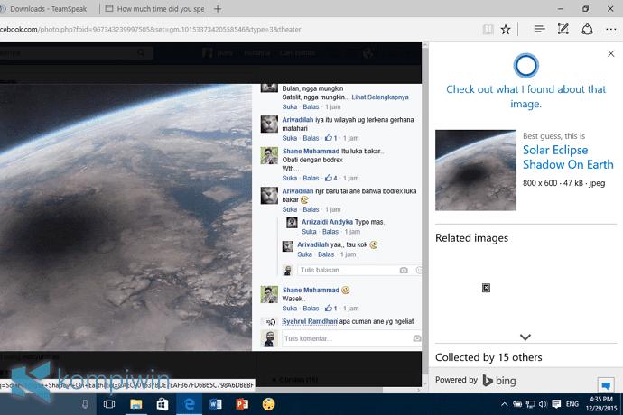 Mencari Gambar Serupa (Beserta Infonya) yang Muncul di Web dengan Cortana di Microsoft Edge 4