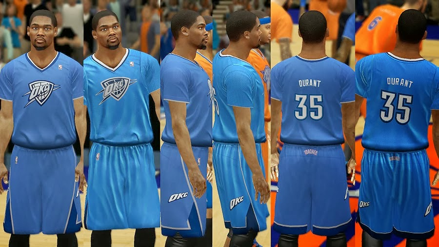NBA 2K14 Christmas Day Uniform - OKC Thunder