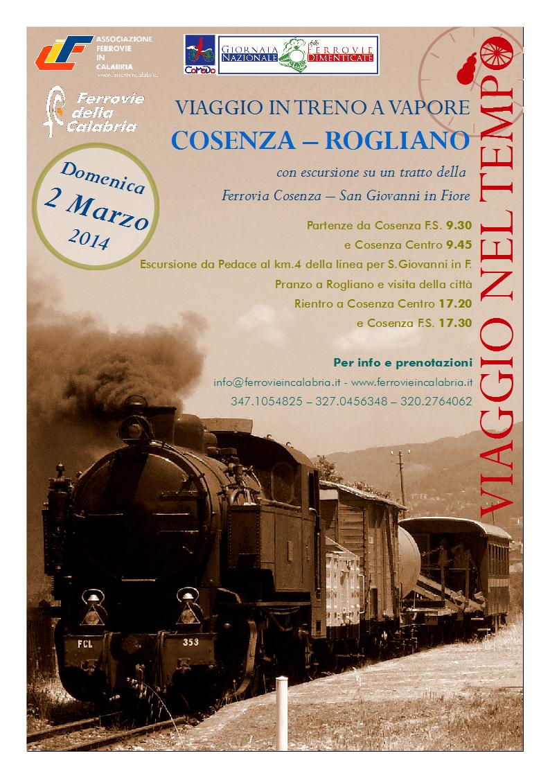 Treno a vapore Cosenza - Rogliano