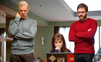 "Benedict Cumberbatch, Carice Van Houten, and Daniel Bruhl in ""The Fifth Estate"""