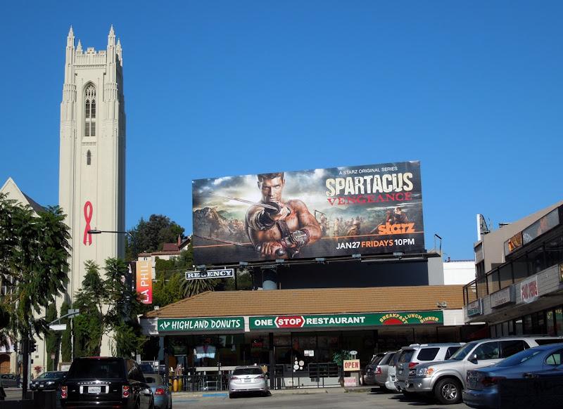 Spartacus Vengeance Starz billboard