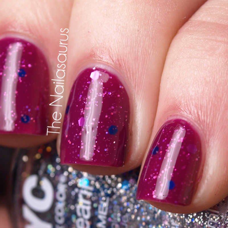 Glitter Sandwich with OPI Houston We Have A Purple