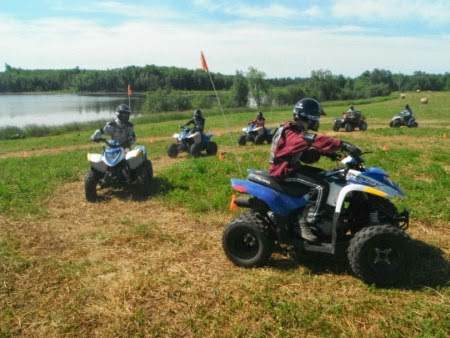 Boy Scouts Riding ATVs