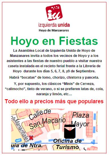 Izquierda Unida en las fiestas de Hoyo de Manzanares