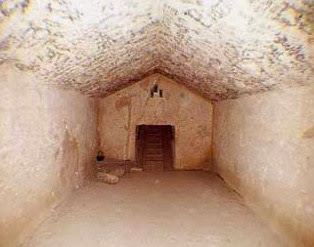 The Burial Chamber within the pyramid of Khafre