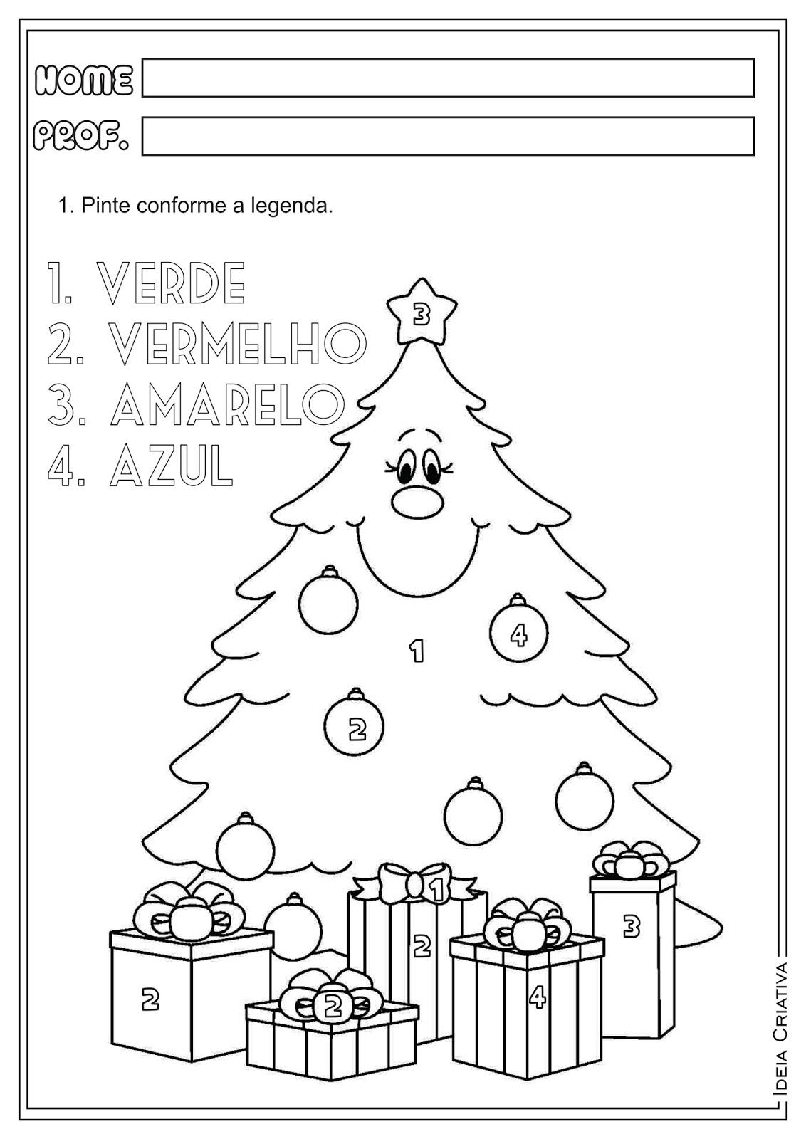 Atividades Natal Jogo dos 7 erros e Pintura Direcionada