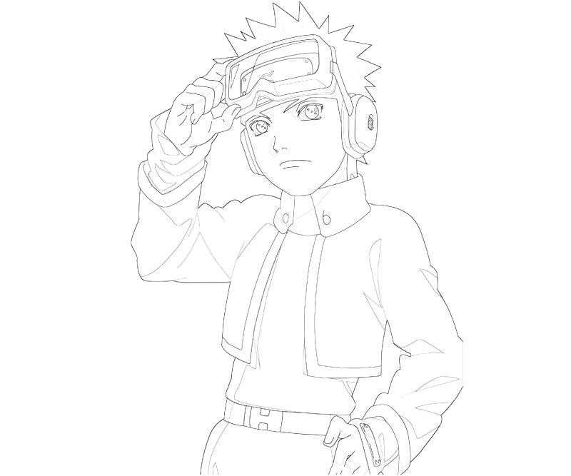 printable naruto obito uchiha character coloring pages