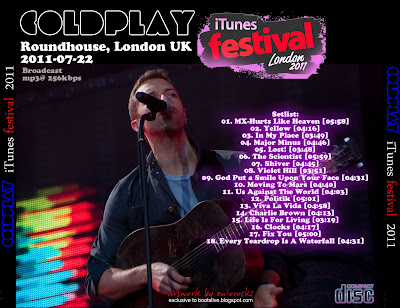 Coldplay - iTunes Festival 2011 - Live London (720p HD)