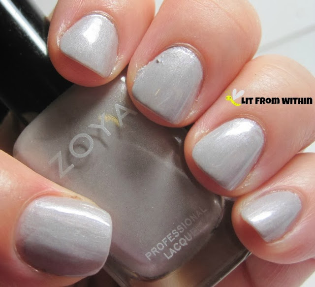 the dreamy, soft grey of Zoya Harley
