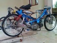 drag jupiter z are modification from motorcycle yamaha jupiter z is