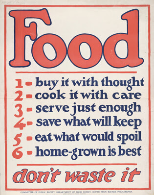 Food for Thought:  Reducing Food Waste. Let's reduce the amount of food that goes into landfills by feeding hungry people the usable food, feeding animals the vegetative scraps, and composting the organic matter.