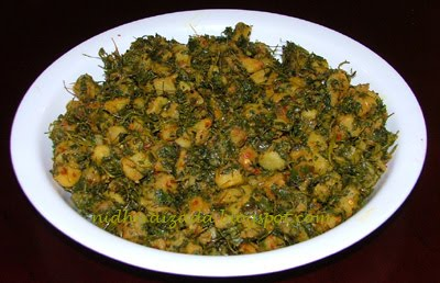 ... Indian Everyday: Aloo Methi (Diced Potatoes with Fenugreek Leaves