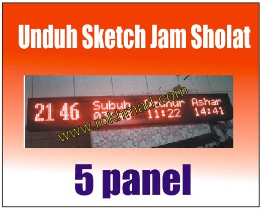 Sketch Jam Sholat 5 Panel