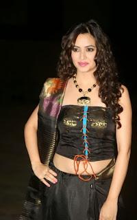 Kriti Kharbanda in Spicy Designer Black Dress with Golden work