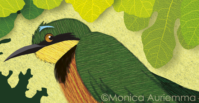 Honey-Bird-illustration-uccellino-foglie