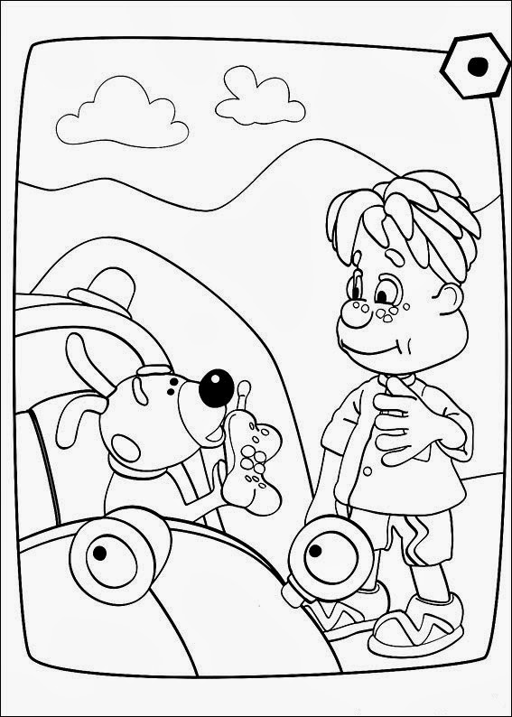 Fun Coloring Pages: Engie Benjy Coloring Pages