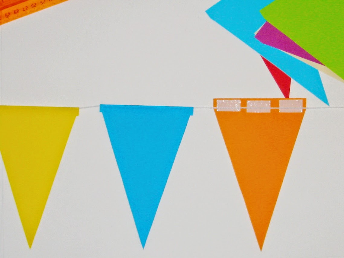 флажки из цветной бумаги на день рождения