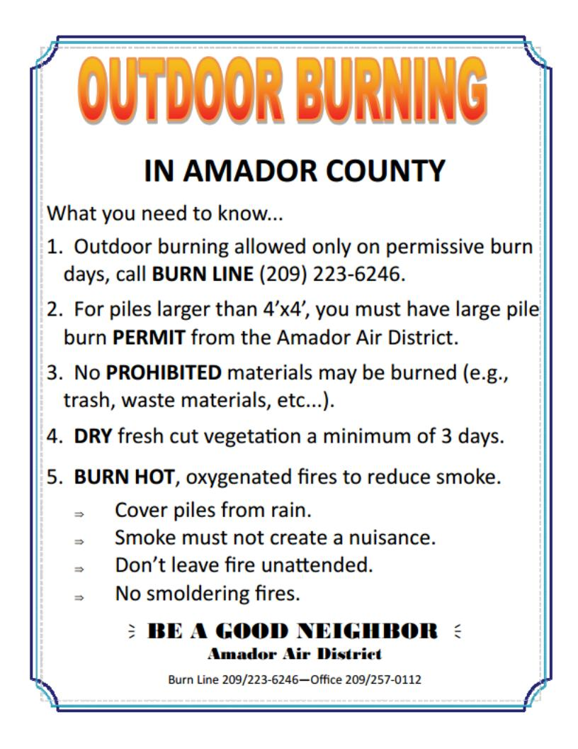 OUTDOOR BURNING: What you need to know...