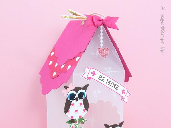 Valentine Bird House Luminaire