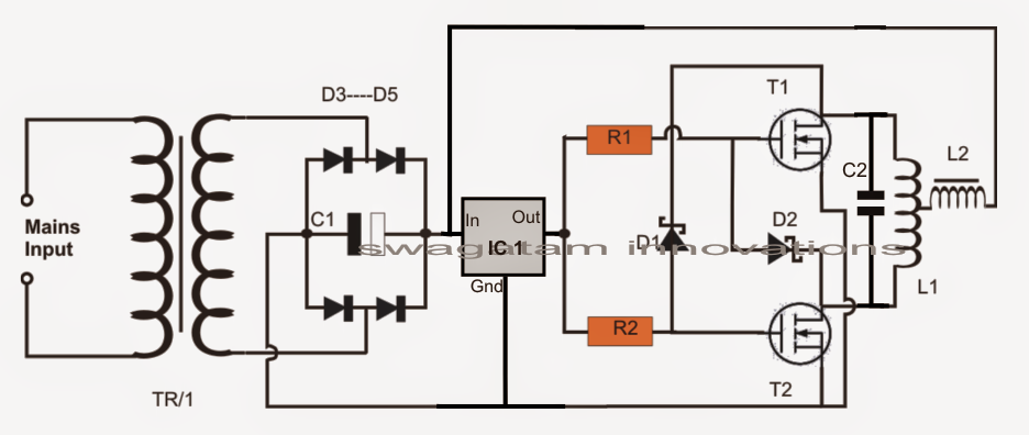 Simple Induction Heater Circuit on furnace induction motor