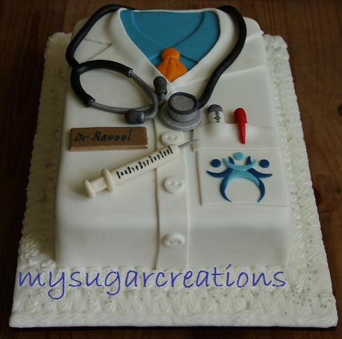 Cake Design Doctor : My Sugar Creations (001943746-M): Doctor s Coat Cake