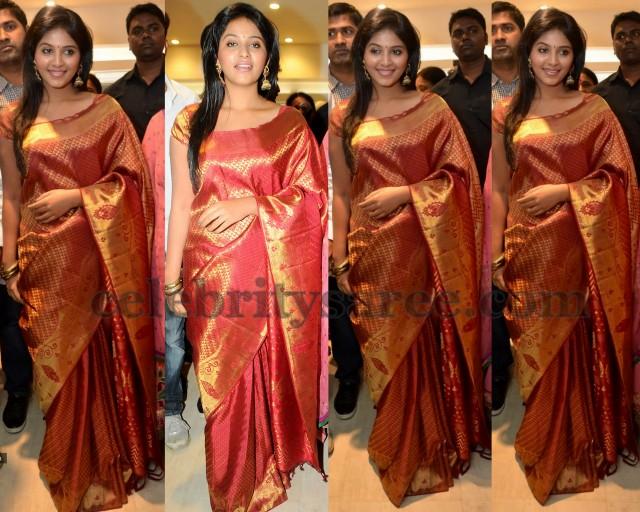 Anjali In Bridal Silk Saree Blouse Patterns