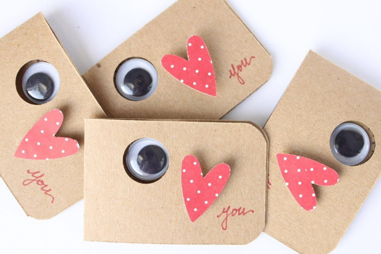 Miss lovie handmade valentines for kids eye love you for Cute homemade valentines day cards