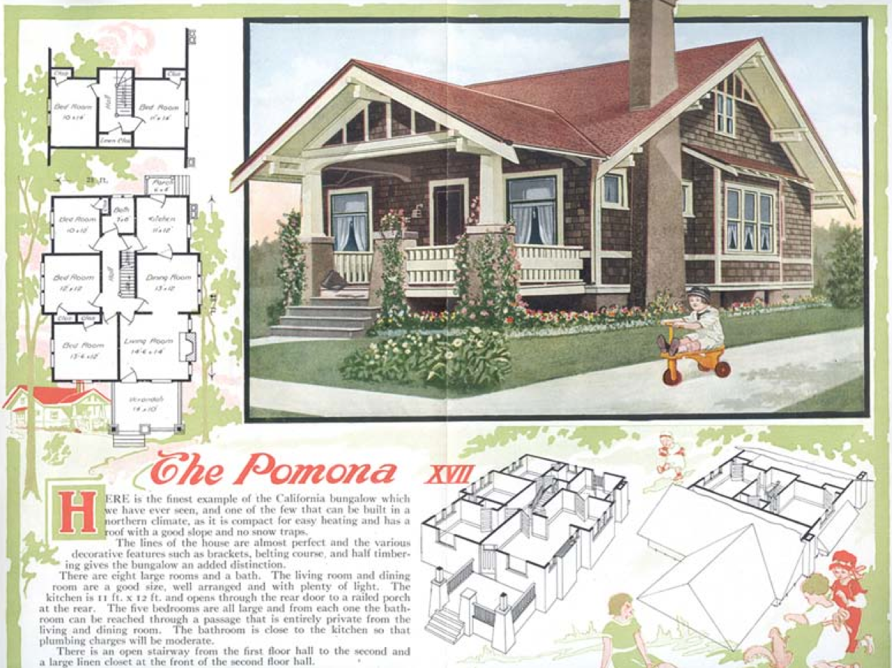 Laurelhurst Craftsman Bungalow Aladdin Kit Homes