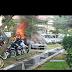 Kereta guru dibakar......