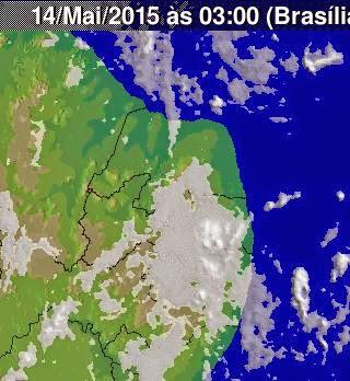 imagens  do satélite  em  14  de maio  2015