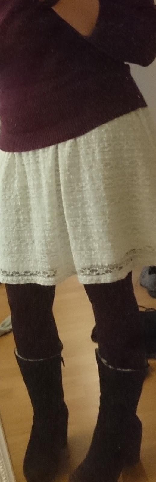 Sommerkleid und Kuschelpulli herbst- und wintertauglich kombiniert