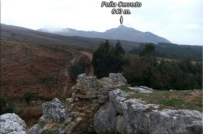 Cerredo visto desde las ruinas de la torre de los 'templarios'
