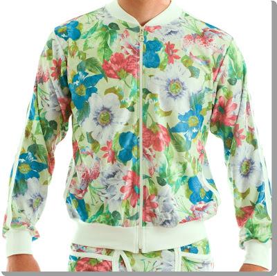 Modus Vivendi green floral bomber jacket