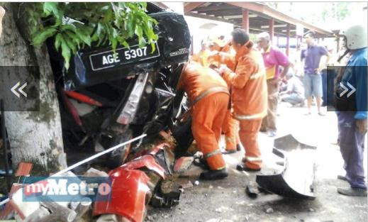 Tragis Lelaki dirempuh kereta sendiri selepas solat
