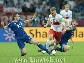 تعادل منتخبا بولاندا و اليونان بنتيجة التعادل هدف لمثله و ذلك ضمن اطار الجولة الاولى من كاس اوروبا 2012