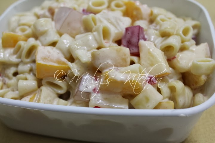 Simple Macaroni Salad - Mely's kitchen