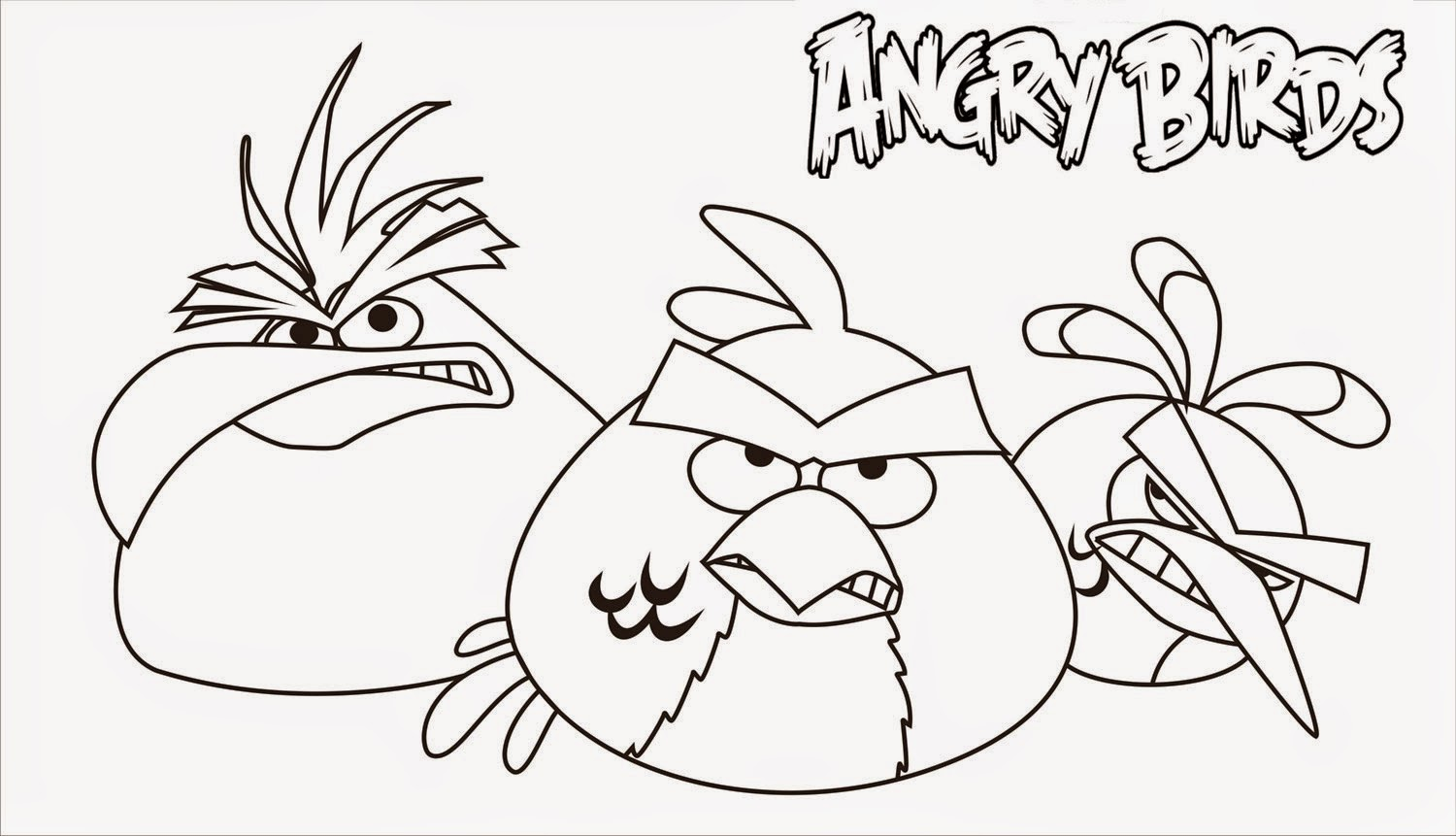 Angry Birds Coloring Drawing Free wallpaper