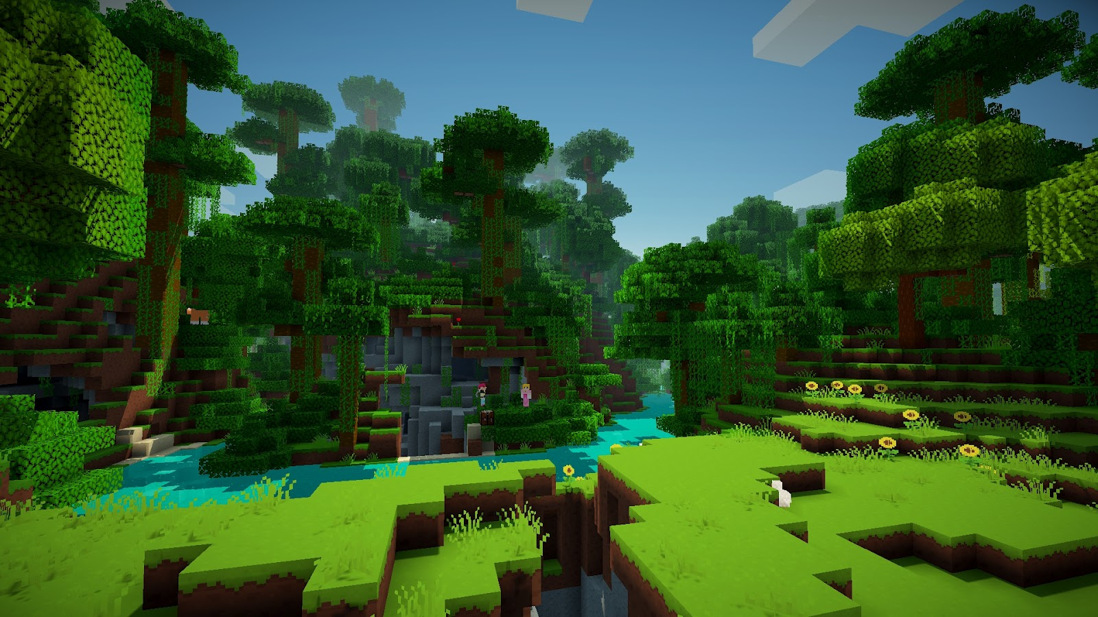 Fantastic Wallpaper Minecraft Scenery - forest+map  Picture_293182.jpg