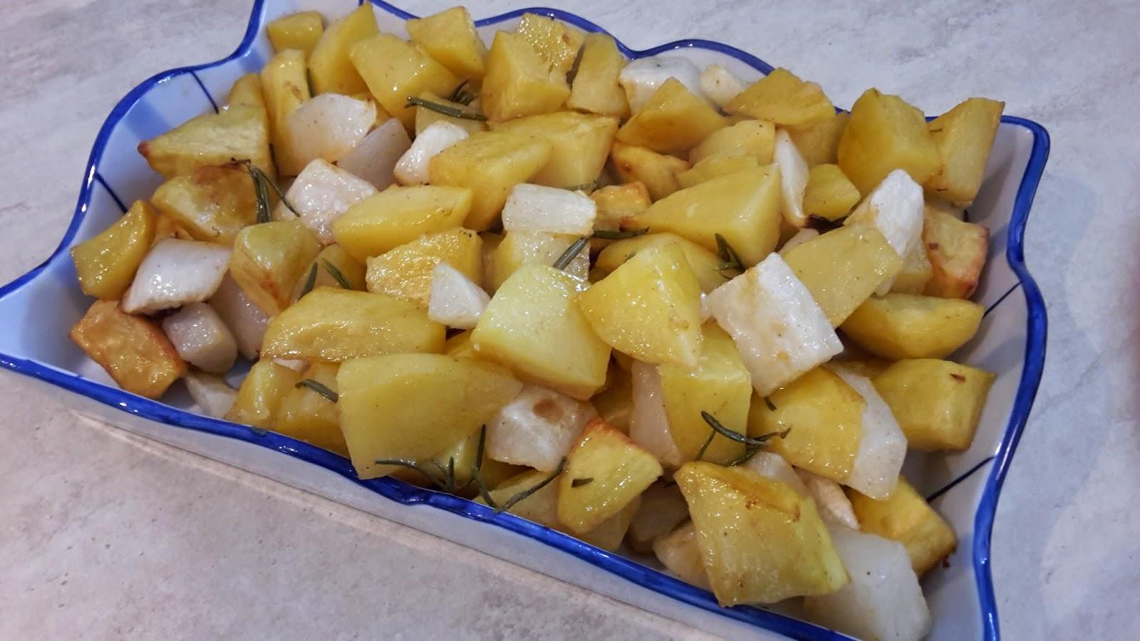 daikon e patate al forno