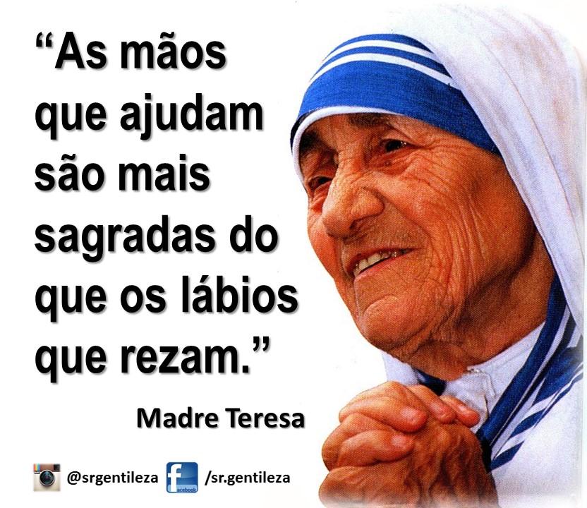 Frase Do Dia 12 De Novembro Madre Teresa De Calcutá