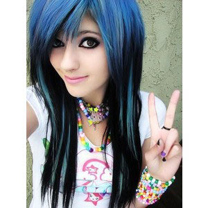Emo Girl with Blue Hair