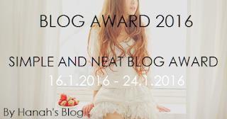 Blog Award 2016