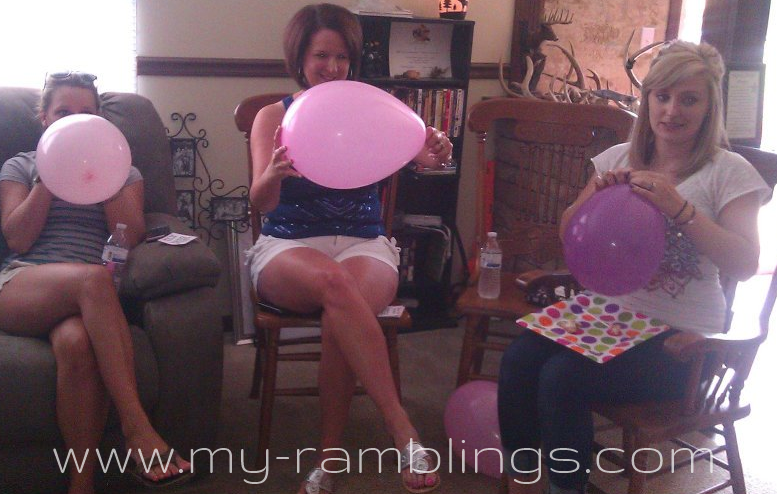 baby shower games balloon pop baby shower